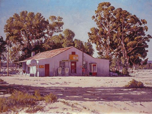 Photo: Here's a painting I made of a 'winkel' somewhere in the Sandveld. I've been back to try and find the place over the years but just can't locate it. Somewhere in the area of Paleisheuwel and Elands Baai and Leipoltville. Any idea, anyone?