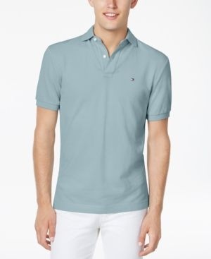 Tommy Hilfiger Men's Classic-Fit Ivy Polo - Gray 2XL