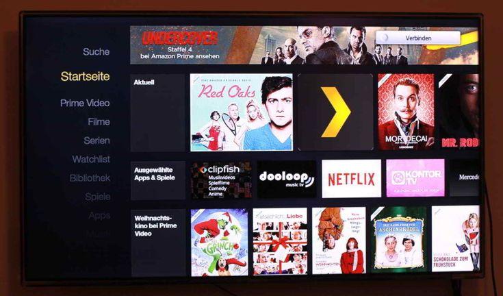 Die Oberfläche des Amazon Fire TV mit 4K Ultra HD ist sehr übersichtlich und einfach gestaltet.