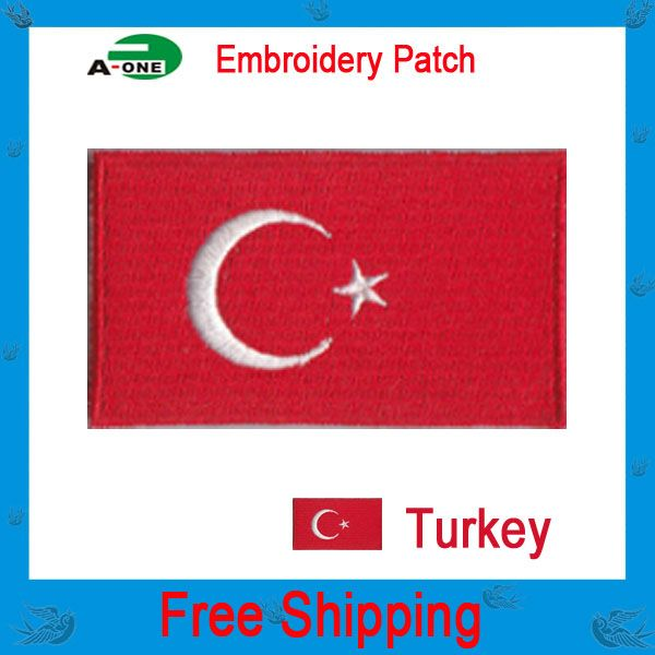 2016 nice all kinds of flag embroidery patch custom cloth dress gags patches flag embroidery badge IRON ON or Sew-on Available