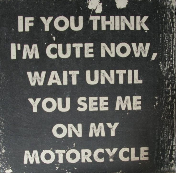 """If you think I'm cute now, wait until you see me on my motorcycle]"