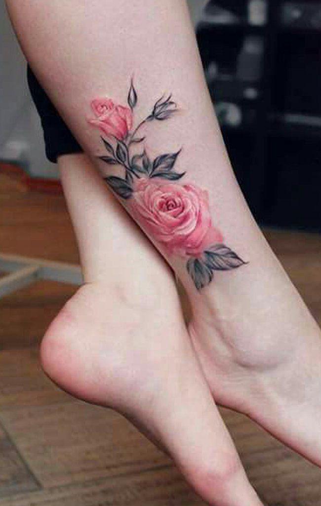 30 Delicate Flower Tattoo Ideas Delicate Flower Tattoo Ankle