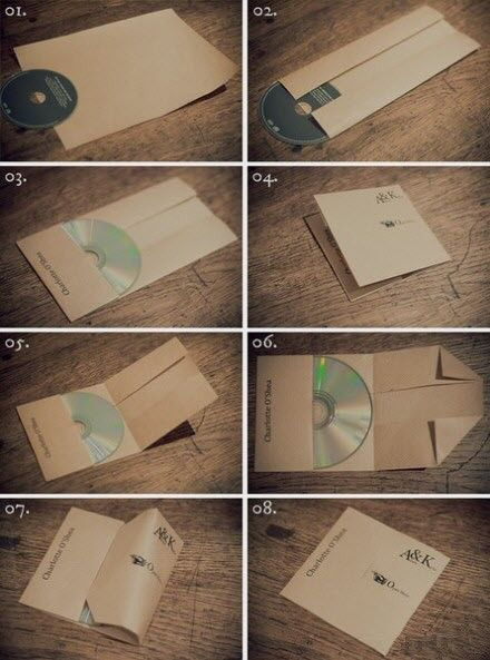 eCd Sleeve, Good Ideas, Wedding Favors, Cd Holders, Cd Covers, Cd Cases, One Piece, Life Hacks, Diy