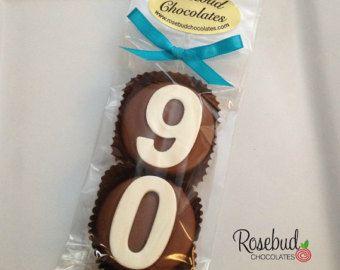 8 Chocolate 60th Double Oreo Cookie Favors di rosebudchocolates