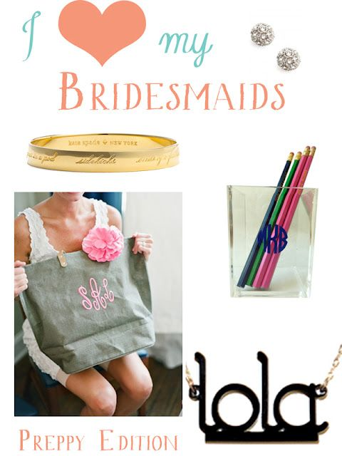 Bridesmaid Gifts // Personalized items