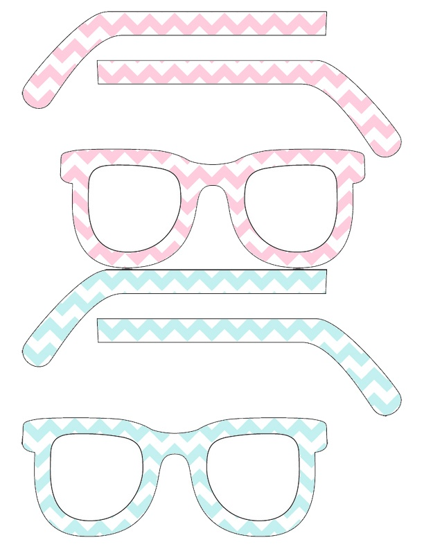 Chevron Printable Glasses from Pop! Printables. Update your look or use as photobooth props! #printable #free #chevron #photobooth
