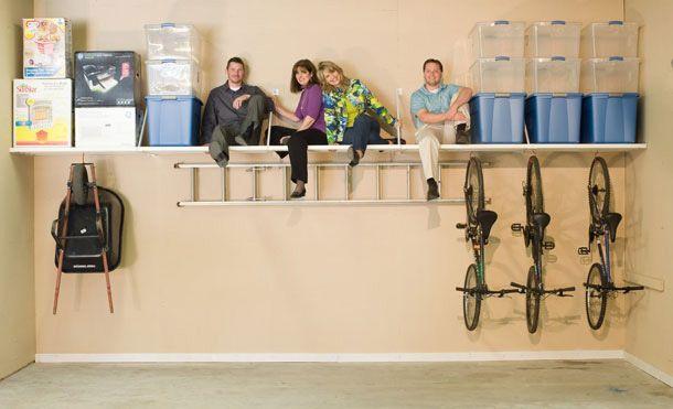 The best garage storage on the market is Rhino Shelf!
