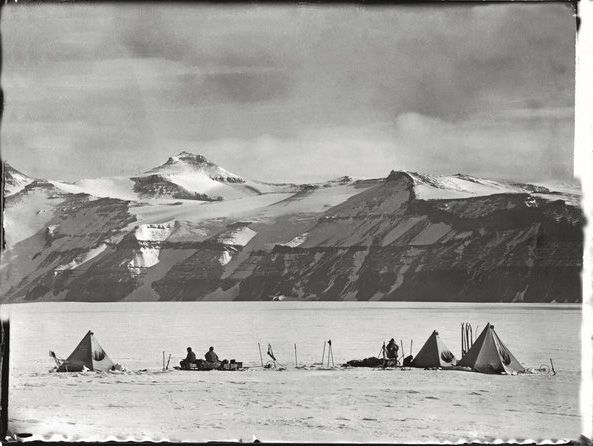"from ""The Lost Photographs of Captain Scott: 100 Years of Polar Mystery"""
