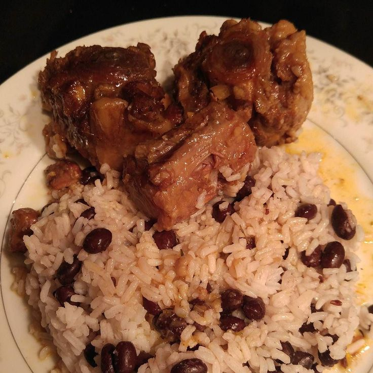 wishing we still had some of this oxtail and rice  peas