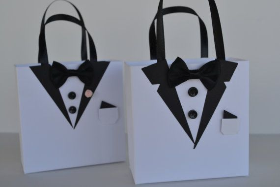 Wedding/Tuxedo party favor gift bag by steppnout on Etsy, $3.00