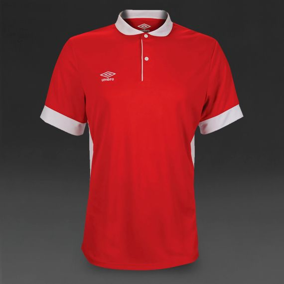 Umbro Trophy SS Jersey - Vermillion/White