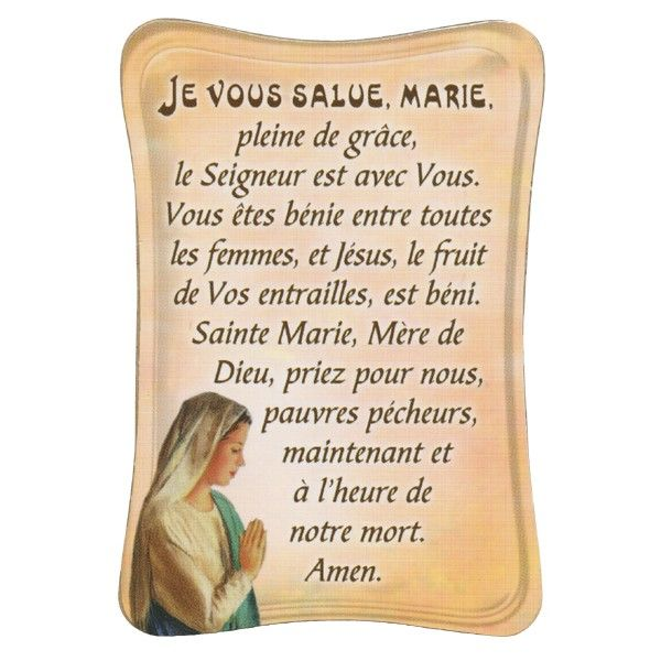 Hail Mary in French