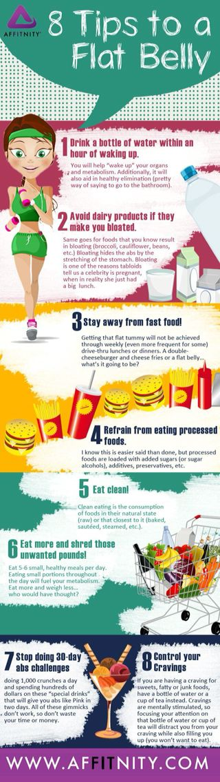 8 tips for a flat belly