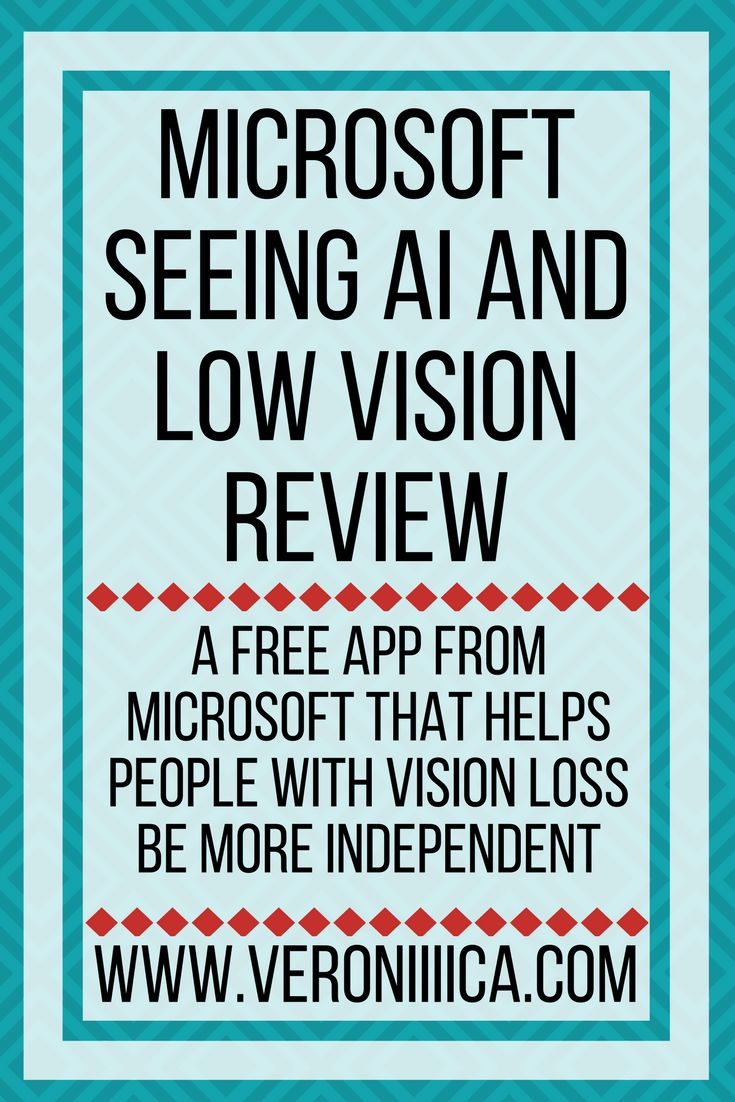 Microsoft Seeing AI and low vision review. A free app from Microsoft that helps people with vision loss be more independent. Students, low vision, education, edtech, blindness, vision impairment, iPad, app, camera, guide, assistive technology, accessibility, Microsoft, free. #microsoft #ipad #app. From Veronica With Four Eyes