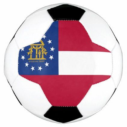 Patriotic Soccer Ball with Flag of Georgia USA  $49.95  by AllFlags  - cyo customize personalize diy idea