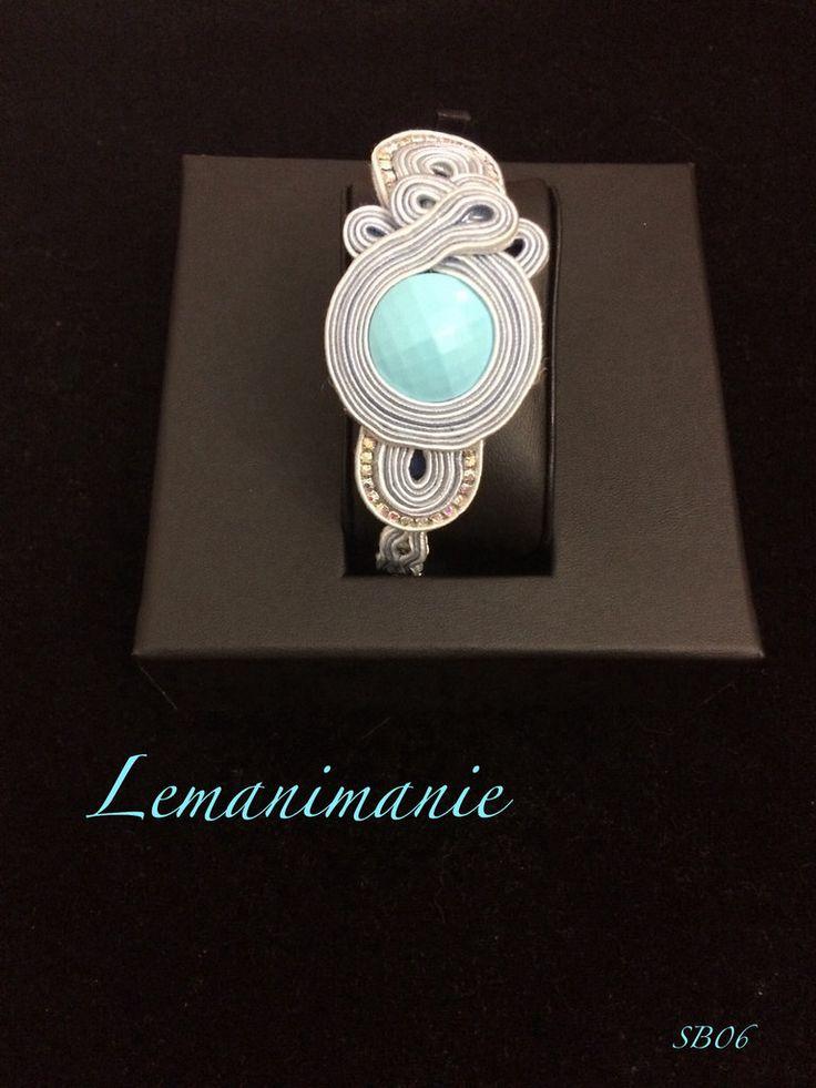 #bracciale #azzurro #soutache #Lemanimanie, by Lemanimanie, 35,00 € su misshobby.com