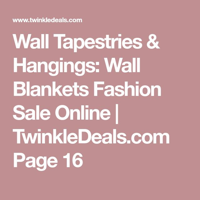 Wall Tapestries & Hangings: Wall Blankets Fashion Sale Online | TwinkleDeals.com Page 16