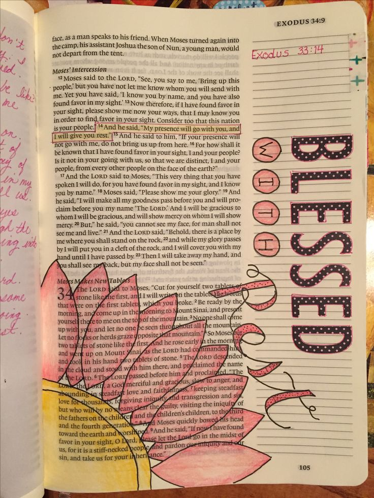 Exodus 33:14 Blessed to Rest bible journaling
