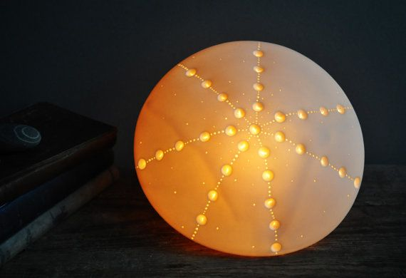 Large Greater Spotted Naked Urchin Lamp by AmyCooperCeramics