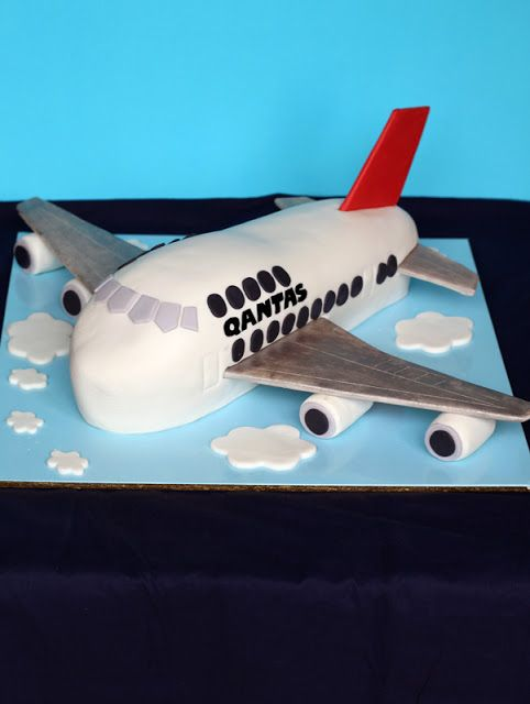 Aeroplane Cake - make the wings and tail out of something else and stick them into the cake