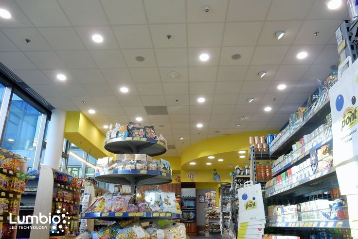 Such a smart combination of LED round Panels CCT and LED rotable Downlights Lumbio