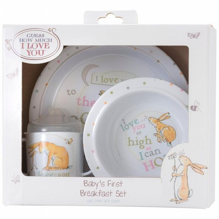 Guess how much i love you 3 piece breakfast set in 2020