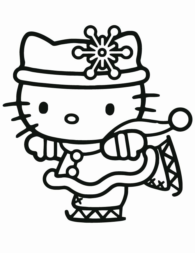 58 Of Amazing Hello Kitty Christmas Coloring Pages Kitty Coloring Snowflake Coloring Pages Hello Kitty Coloring