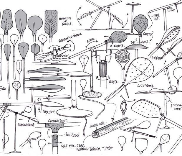 concept sketches: Aluminium 360, Concept Design, Benjamin Hubert, Cast Aluminium, Paddles Lights, 360 Degrees, Concept Sketch, Lights Sketch, Degr Lamps