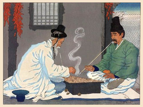 hanga gallery . . . torii gallery: A Game of Chess by Elizabeth Keith