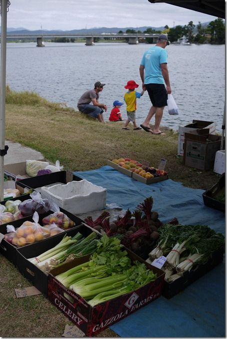 Fresh fruit and veges at Moruya markets.