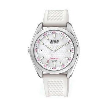 Citizen Ladies Titanium Eco-Drive Golf Leather Strap Watch