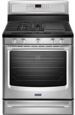 Maytag MGR8800DS 30 Freestanding Gas Stove With Griddle Stainless
