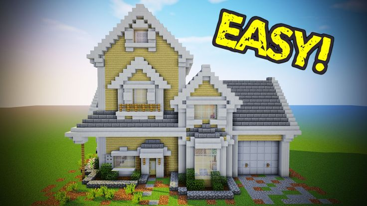 Minecraft - Suburban House Tutorial (Minecraft House)