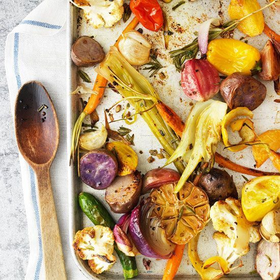 Roasting vegetables in a very hot oven gives them a caramelized exterior and flavor while keeping the inside moist and tender. This showy cooking method easily feeds a crowd or just a couple, and it lets you choose the vegeta