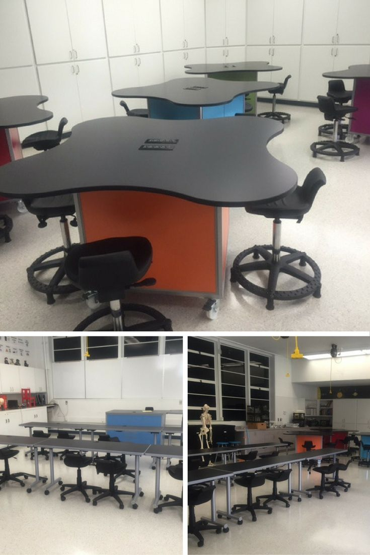 Fun And Bright STEM/STEAM Lab Design For Holland MS In CA. Featuring The
