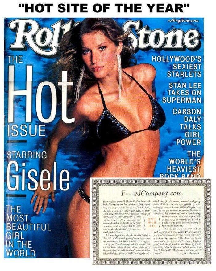 Uno spettacolare fisico per una spettacolare copertina di Rolling Stone con Gisele Bündchen C'é altro da aggiungere? ;-)