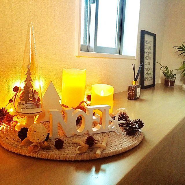 女性で、、家族住まいのクリスマスディスプレイ/クリスマス雑貨/LEDキャンドル/モノトーン/セリア…などについてのインテリア実例を紹介。「我が家もクリスマス始めました。」(この写真は 2016-11-08 12:43:27 に共有されました)