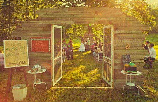 Casamento vintage: Portas na decoração