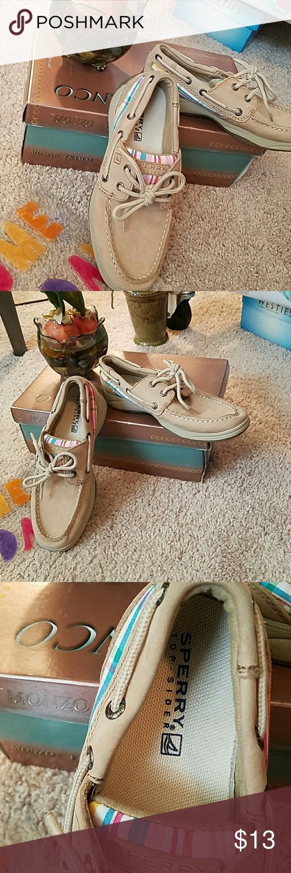 Girl's Sperry Top Slider Intrepid size 2.5 M. Girl's Sperry Top Slider Intrepid size 2.5 M.  In good condition with general wear. Sperry Top-Sider Shoes