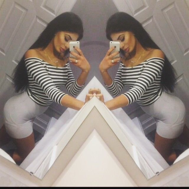 Chloe Ferry Geordie Shore wears Striped off the shoulder crop top. Available from www.youbadinfluence.com