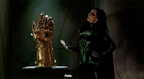 That certainly explains how Thanos has his Gauntlet while Odin had one in his Vault.