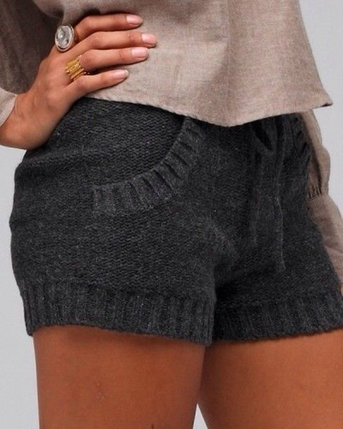 Cute sweater shorts for weeenter!!