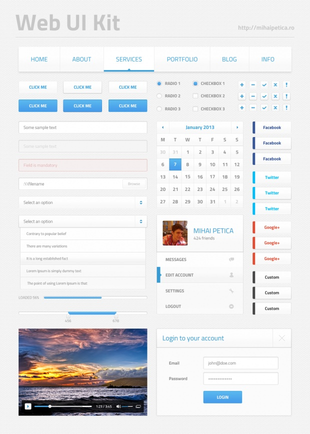 Light Web UI Kit