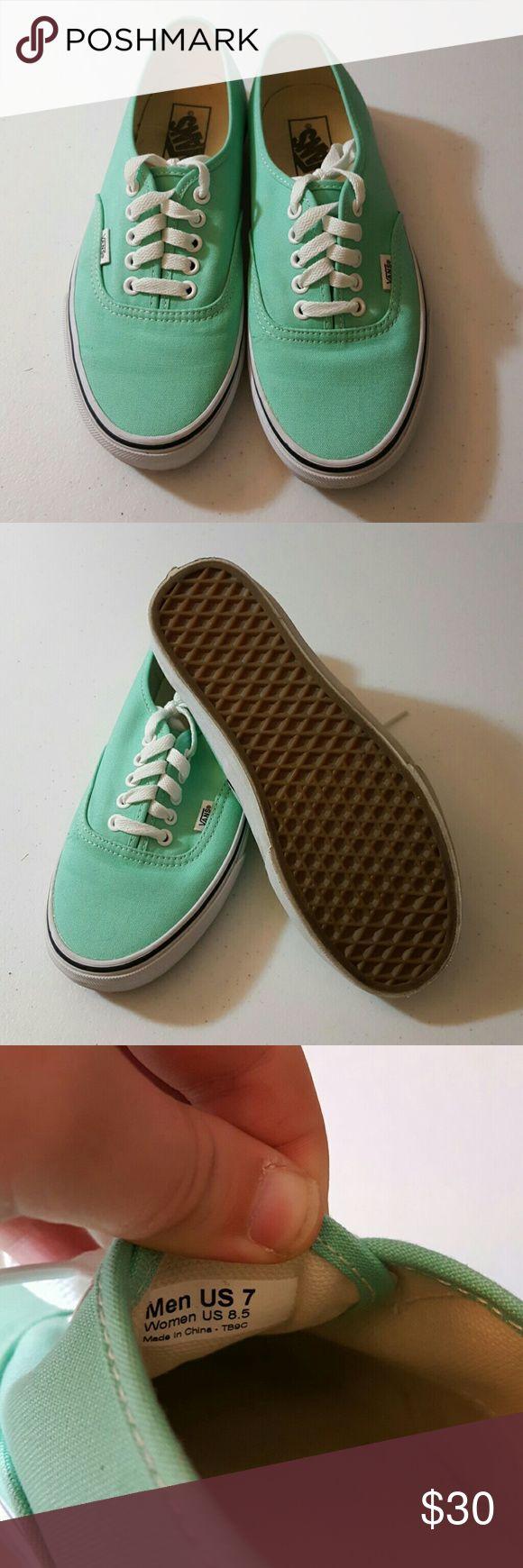 Turquoise vans authentic Turquoise vans authentic shoes. Size 8.5. Light wear. Vans Shoes Sneakers