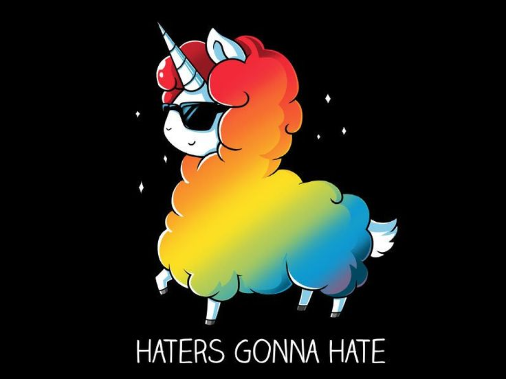rainbow unicorn HATERS GONNA HATE