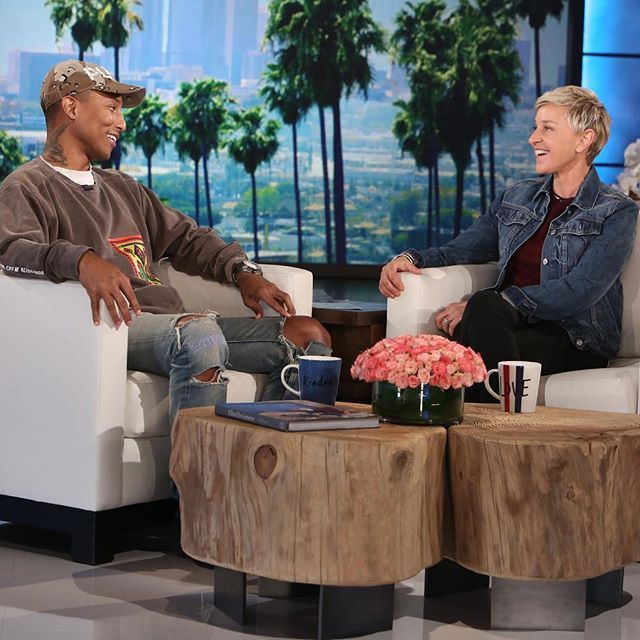 Ellen @theellenshow: Thank you @Pharrell for standing up for kindness and acceptance and love.