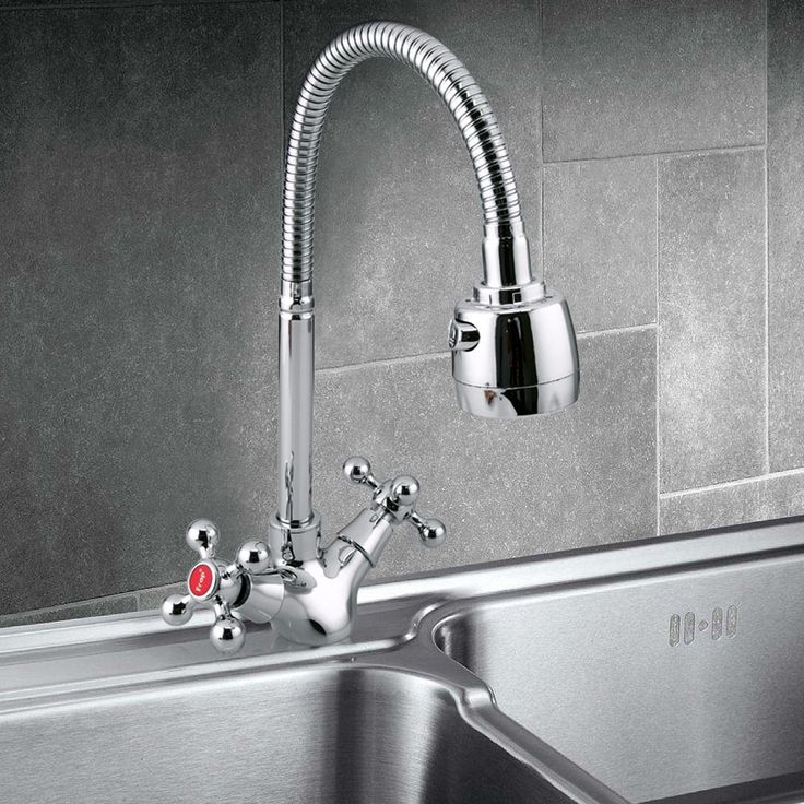 Frap Double Handle Zinc Alloy Water Faucet Deck-mounted Kitchen Bathroom Sink Faucet Basin Hot and Cold Water Mixer Tap Sales Online - Tomtop