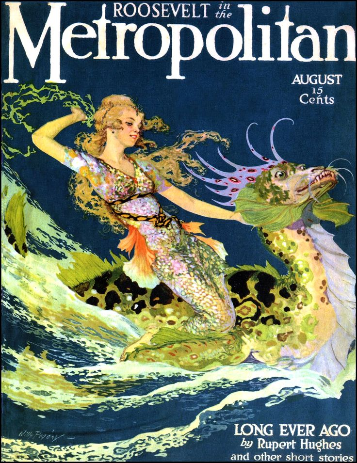 Art by Willy Pogany (1916) - Cover art for METROPOLITAN MAGAZINE.