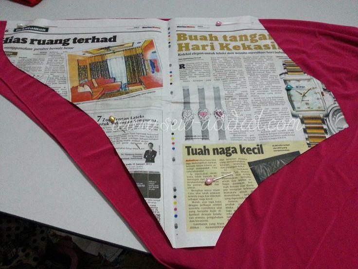 Tutorial : Cara menjahit tudung soft awning lycra | Sew Addict handmade by Fizan