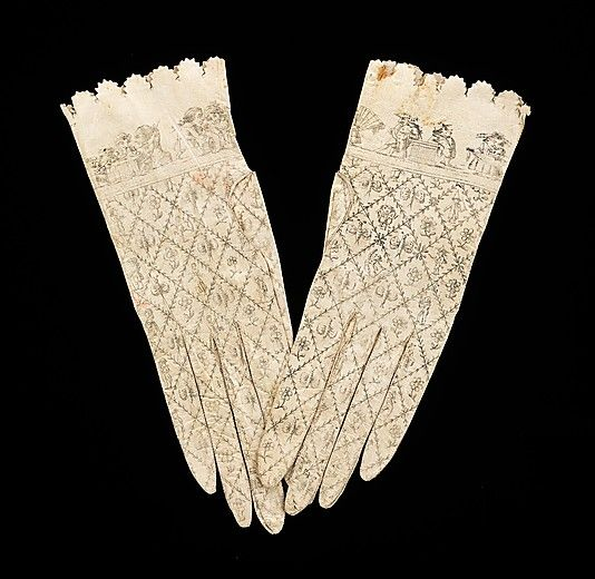 Gloves 1800, Spanish, Made of kid leather